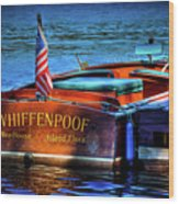1958 Chris Craft Utility Boat Wood Print