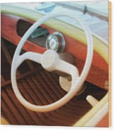Chris Craft Dreaming Wood Print