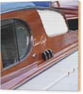 Chris Craft Enclosed Cruiser Wood Print