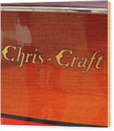 Chris Craft Logo Wood Print