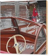 Chris Craft Sea Skiff Wood Print