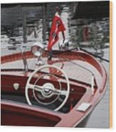 Chris Craft Sportsman Wood Print