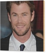 Chris Hemsworth At Arrivals For Thor Wood Print