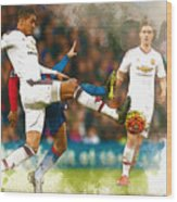 Chris Smalling  In Action  Wood Print