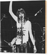 Chrissie Hynde 1980 San Francisco Wood Print