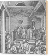 Christ Among The Doctors In The Temple 1503 Wood Print