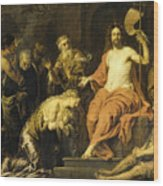 Christ And The Penitent Sinners Wood Print