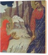 Christ Appearing To Mary Magdalene Fragment 1311 Wood Print