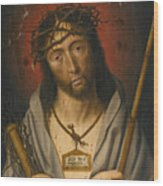 Christ As The Man Of Sorrows Wood Print
