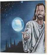 Christ At Night Wood Print
