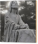Christ At Prayer Wood Print by Robert  Suits Jr