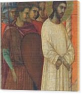 Christ Before Pilate Fragment 1311 Wood Print