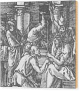 Christ Being Crowned With Thorns 1510 Wood Print