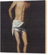 Christ Bound To The Column Wood Print