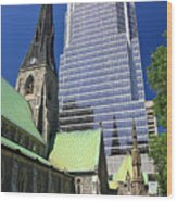 Christ Church Cathedral Montreal Wood Print