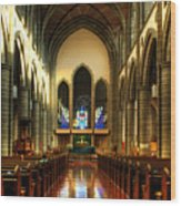 Christ Church Cathedral Victoria Canada Wood Print