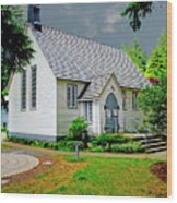 Christ Church Wood Print