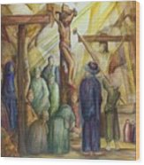 Christ Crucified Wood Print