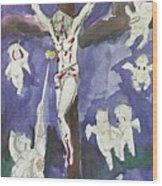 Christ Crucifixion Wood Print