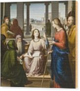 Christ Disputing With The Doctors In The Temple Wood Print