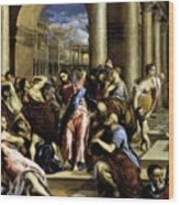 Christ Driving The Traders From The Temple 1576 Wood Print