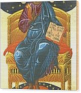 Christ Enthroned Icon  Wood Print