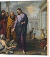 Christ Healing At Pool Of Bethesda Wood Print