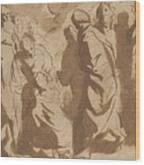 Christ Healing The Paralytic Wood Print