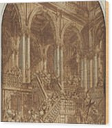 Christ Led Captive From A Palace Wood Print