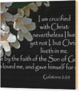 Christ Lives In Me Wood Print