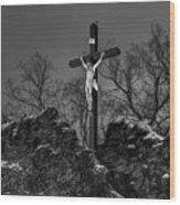 Christ On The Cross 002 Wood Print