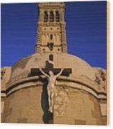 Christ On The Cross Outside The Nortre Dame De La Garde Wood Print