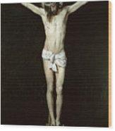 Christ On The Cross Wood Print