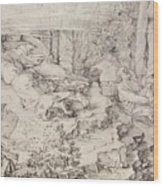 Christ On The Mount Of Olives 1521 Wood Print