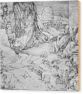 Christ On The Mount Of Olives 1524 Wood Print