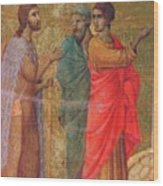 Christ On The Road To Emmaus Fragment 1311 Wood Print