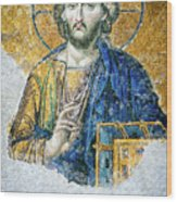Christ Pantocrator Wood Print by Dean Harte