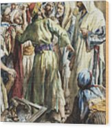 Christ Removing The Money Lenders From The Temple Wood Print