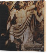 Christ Risen Wood Print