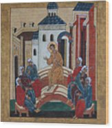 Christ Teaching In The Temple Wood Print