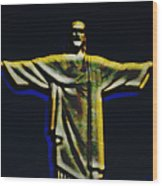 Christ The Redeemer - Rio Wood Print