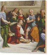 Christ Washing The Disciples' Feet Wood Print