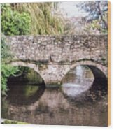 Christchurch - Bridge Over The Millstream Wood Print