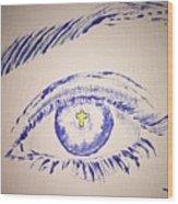 Christian Eye Wood Print