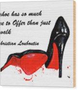 Christian Louboutin Shoes 4 Wood Print