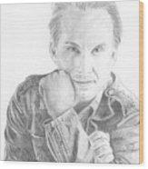 Christian Slater Wood Print
