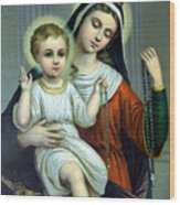 Christianity - Holy Family Wood Print