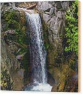 Christine Falls Mt Rainier Wood Print
