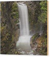 Christine Falls Mt Rainier Washington Wood Print