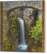 Christine Falls Through The Trees Wood Print